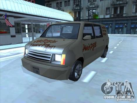 Hot Dog Moonbeam para GTA San Andreas esquerda vista