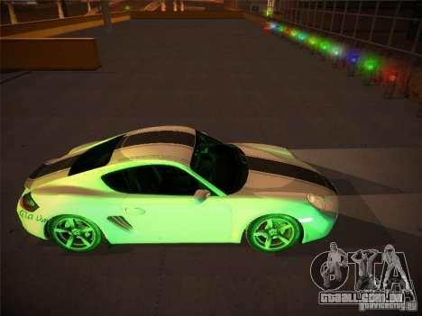 Porsche Cayman S Snow para GTA San Andreas vista interior
