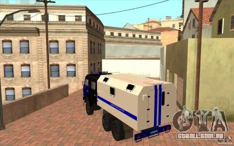 Polícia Kamaz para GTA San Andreas vista direita