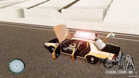 Ford Crown Victoria 2003 NYC Taxi para GTA 4 vista interior