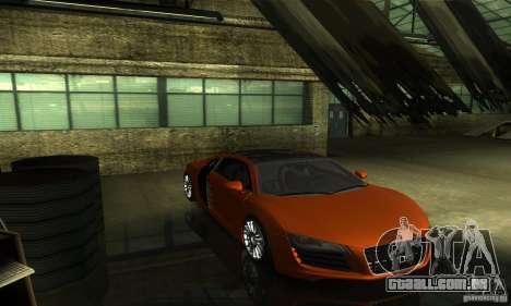 Audi R8 V12 TDI para GTA San Andreas vista interior