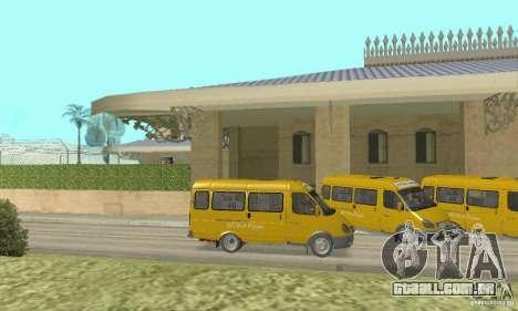 Gaz 2705 Minibus para GTA San Andreas traseira esquerda vista