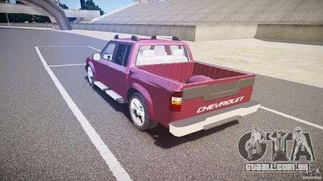 Chevrolet S10 para GTA 4 traseira esquerda vista