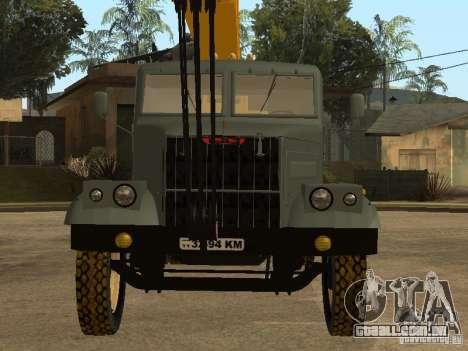 KrAZ caminhão para GTA San Andreas vista traseira