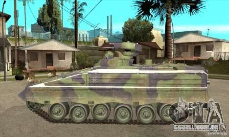 Marder 1A3 para GTA San Andreas esquerda vista