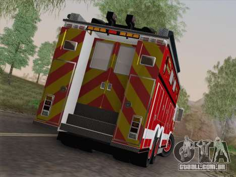 Pierce Walk-in SFFD Heavy Rescue para GTA San Andreas interior