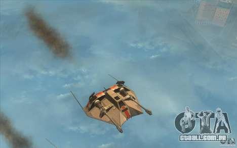 T-47 Snowspeeder para GTA San Andreas esquerda vista