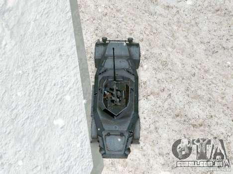 Transporte de pessoal blindados do jogo atrás da para GTA San Andreas vista traseira