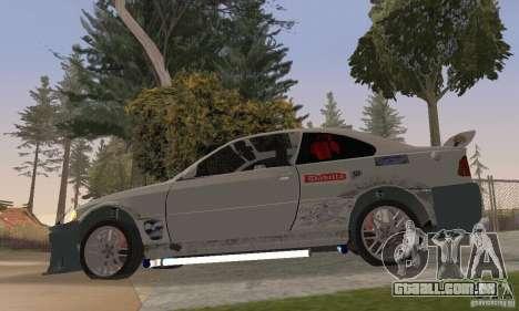 BMW M3 Hamman Street Race para GTA San Andreas traseira esquerda vista