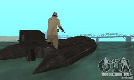 Barco de Cod mw 2 para GTA San Andreas esquerda vista