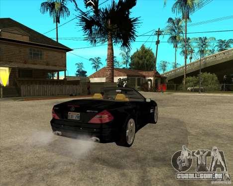 Mercedes Benz AMG SL65 V12 Biturbo para GTA San Andreas traseira esquerda vista