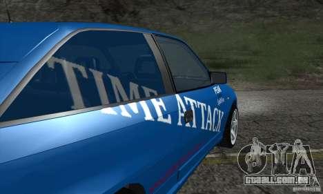 Opel Astra Time Attack para GTA San Andreas vista interior