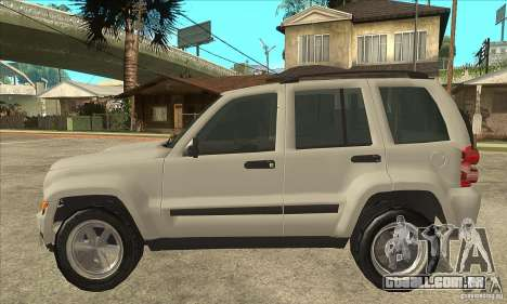 Jeep Liberty 2007 Final para GTA San Andreas esquerda vista