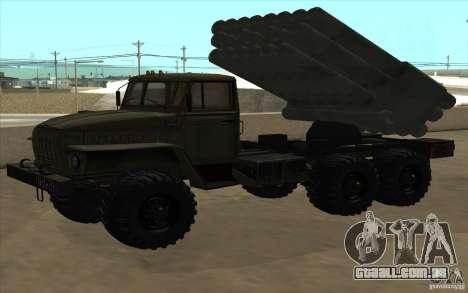 Ural 4320 Grad v2 para GTA San Andreas vista traseira