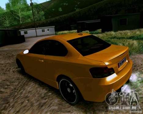 BMW 135 Tuning para GTA San Andreas traseira esquerda vista