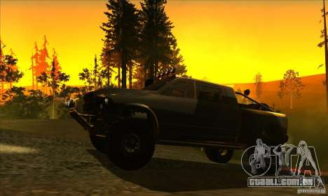 Dodge Ram All Terrain Carryer para GTA San Andreas traseira esquerda vista