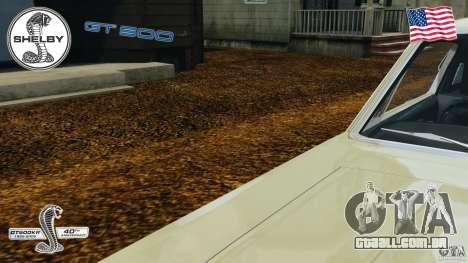 Shelby GT 500 para GTA 4 vista inferior