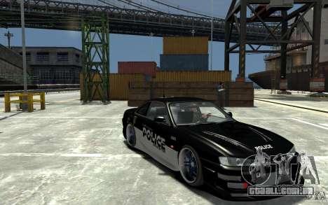 Nissan 200SX Police v0.2 para GTA 4 vista de volta