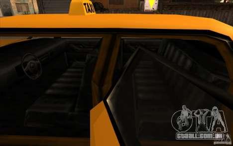 Oceanic Cab para GTA San Andreas vista traseira