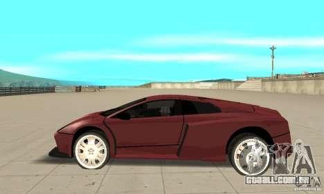Lamborghini Murcielago Tuned para GTA San Andreas esquerda vista