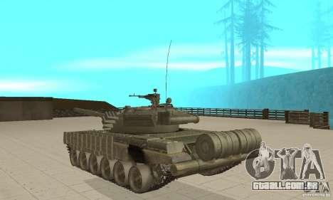 Tanque t-72B para GTA San Andreas traseira esquerda vista