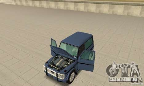 Mercedes-Benz G500 1999 Short [with kangoo v1] para GTA San Andreas vista traseira