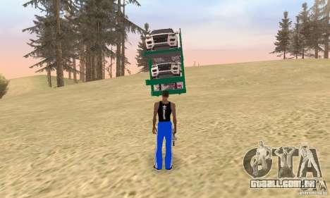 Car Transporter para GTA San Andreas esquerda vista