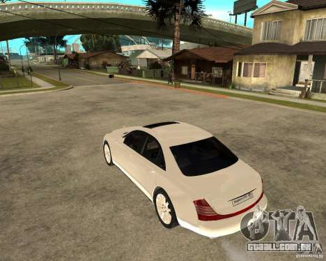 Maybach 57 S para GTA San Andreas esquerda vista