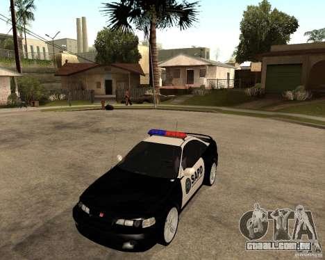 Honda Integra 1996 SA POLICE para GTA San Andreas esquerda vista