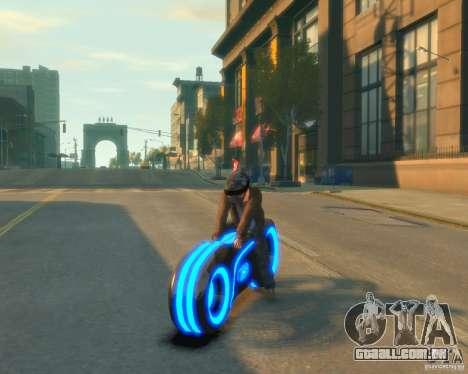 Motocicleta do trono (néon azul) para GTA 4 traseira esquerda vista