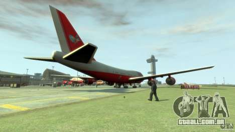 Fly Kingfisher Airplanes with logo para GTA 4 traseira esquerda vista