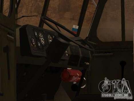 Ural 4320 MOE para GTA San Andreas vista traseira