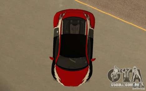 Audi R8 Le Mans Quattro para GTA San Andreas interior