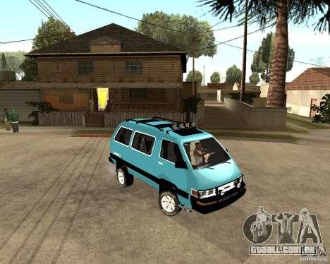 Toyota Town Ace para GTA San Andreas esquerda vista