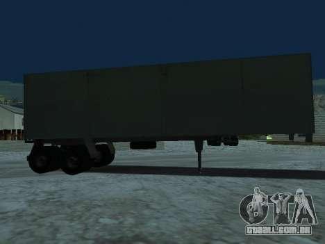 Trailer de Kamaz 5410 para GTA San Andreas traseira esquerda vista