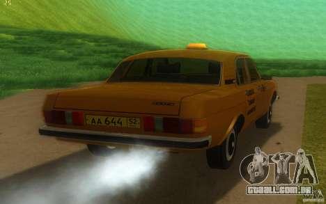GAZ Volga 3102 táxi para GTA San Andreas vista direita
