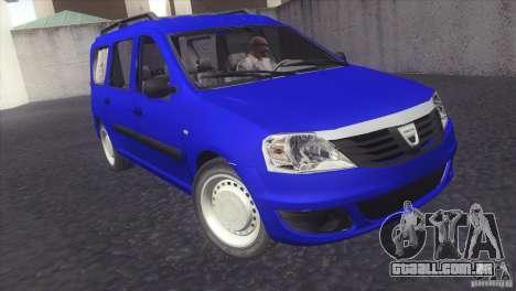 Dacia Logan MCV Facelift para GTA San Andreas