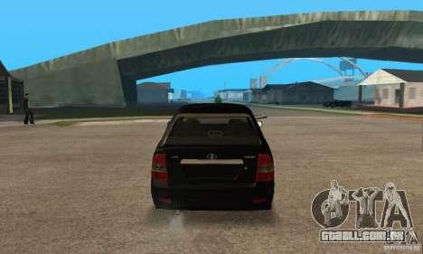 Hatchback de LADA priora 2172 para GTA San Andreas vista direita