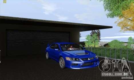 Mitsubishi Lancer Evolution 9 MR Edition para GTA San Andreas vista traseira