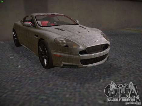 Aston Martin DBS para vista lateral GTA San Andreas