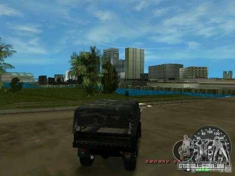 Ural 4320 militar para GTA Vice City vista direita