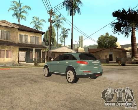 INFINITY FX45 para GTA San Andreas vista interior