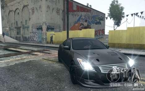 Infiniti G37 Coupe Carbon Edition v1.0 para GTA 4 vista interior