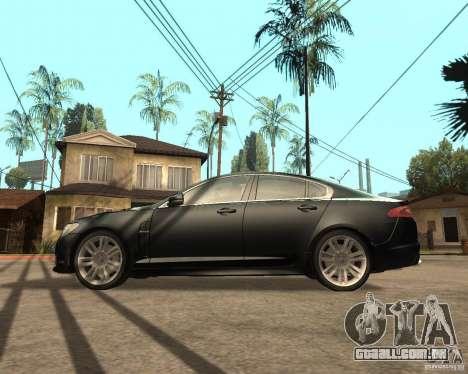 Jaguar XFR 2009 para GTA San Andreas esquerda vista