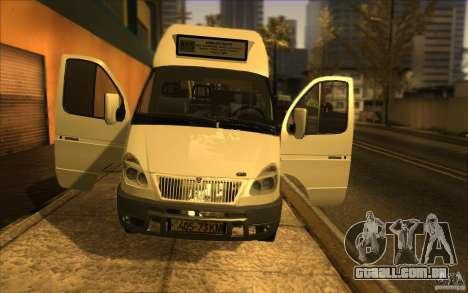 Gazela SPV-16 Rue para GTA San Andreas vista traseira