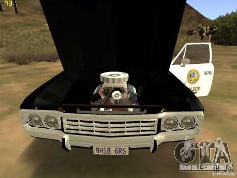 AMC Matador SA Police 1971 Final para GTA San Andreas vista direita
