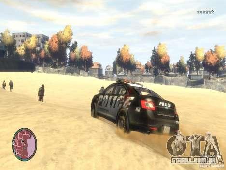 Ford Taurus Police para GTA 4 vista lateral