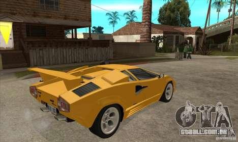 Lamborghini Countach para GTA San Andreas vista direita