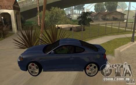Hyundai Tiburon Jc2 para GTA San Andreas esquerda vista