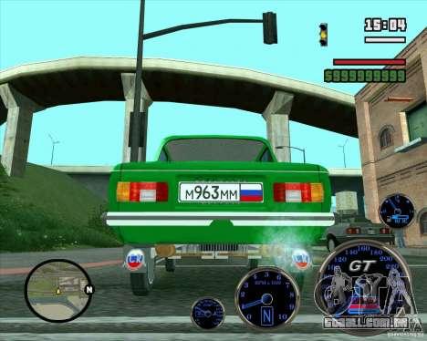 ZAZ 968M para vista lateral GTA San Andreas